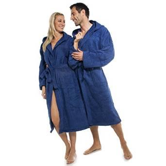 FÖHR Bademantel mit Kapuze für Damen