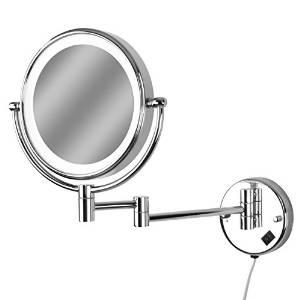 Aquamarin Spiegel mit LED-Beleuchtung 7/10-fach Zoom