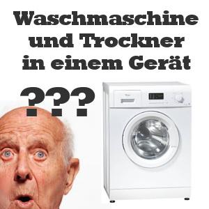 waschmaschine und trockner in einem gerät